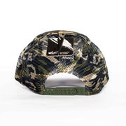 The Camo Leather Kudu Trucker Cap