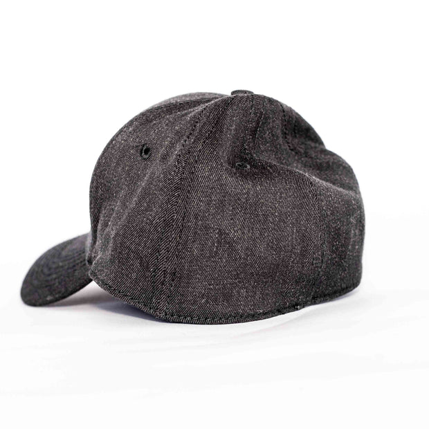Charcoal Leather Kudu Stretch Fit Cap