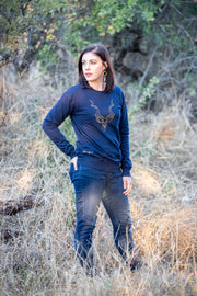 The Kudu Sweater - Navy & Gold