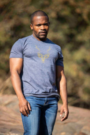 Navy & Gold Men's Kudu T Shirt