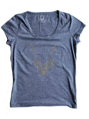 The Kudu Ladies' Navy & Mustard Scooped Neck