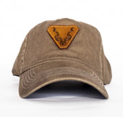 Olive Leather Kudu Strapback Cap