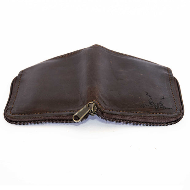 Men's Zip Up Leather Wallet
