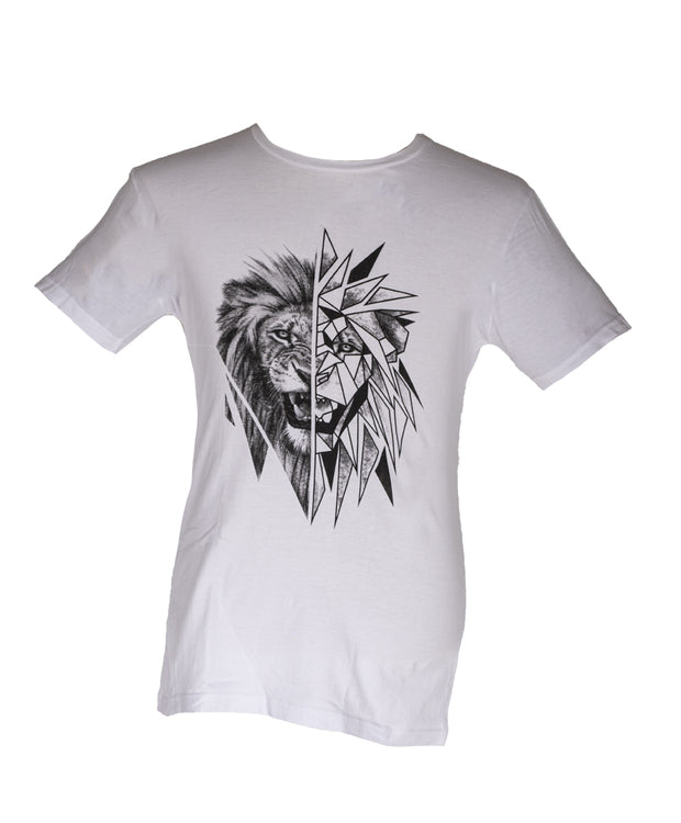 The Geometric Lion T Shirt (Men's) Official Ivan Roux Merchandise