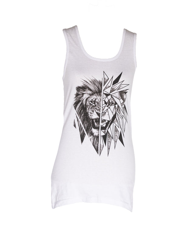 The Geometric Lion Vest (Ladies) Official Ivan Roux Merchandise
