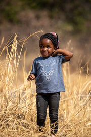 Navy Kudu Kids T Shirt