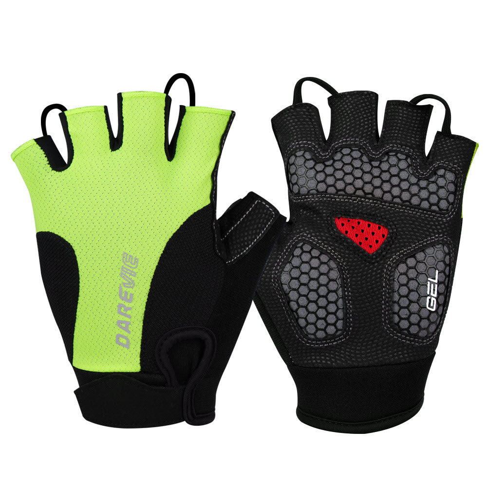 DV Half Tone Fingerless Gel Padded Cycling Gloves