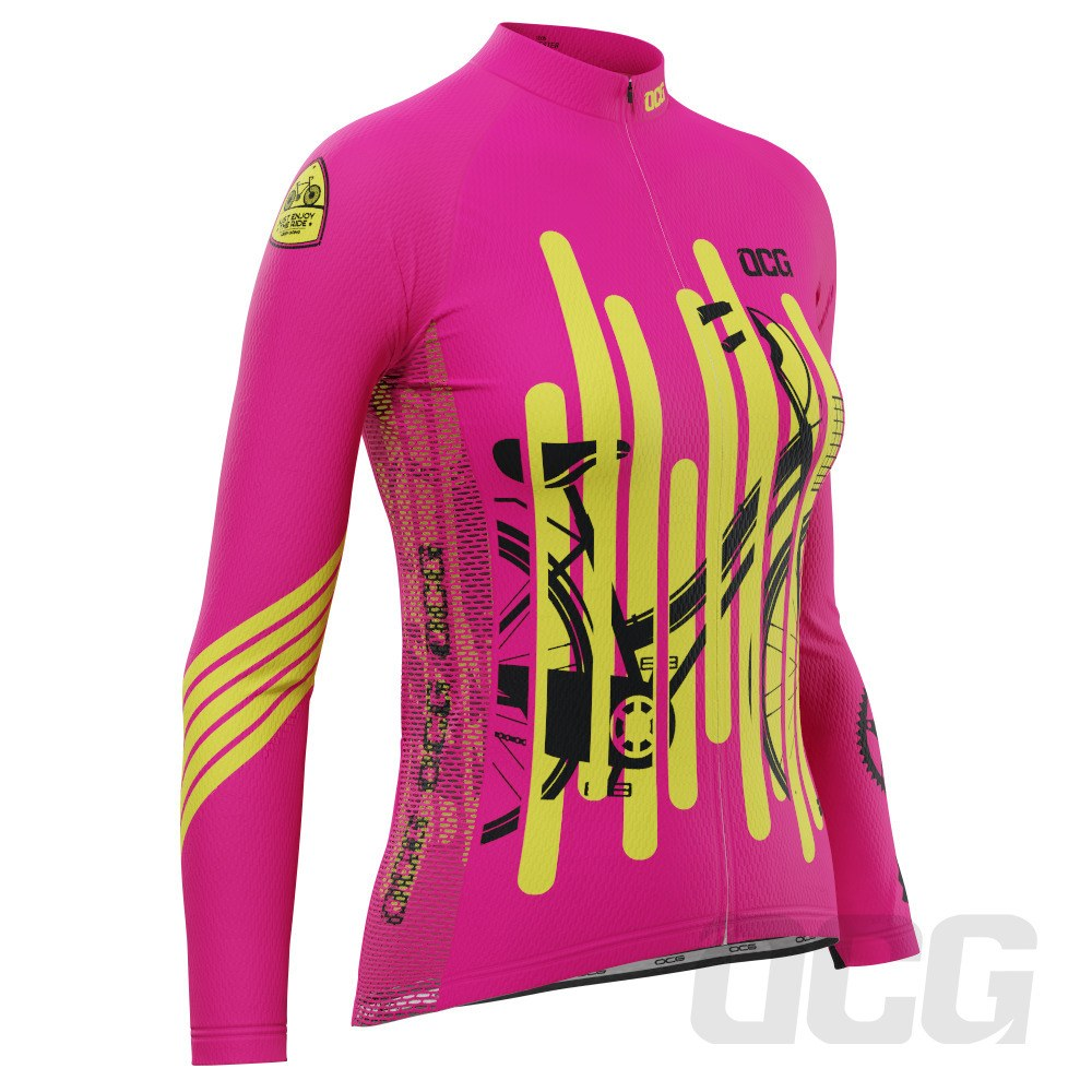 Women's Born To Ride Series 2 Long Sleeve Cycling Jersey