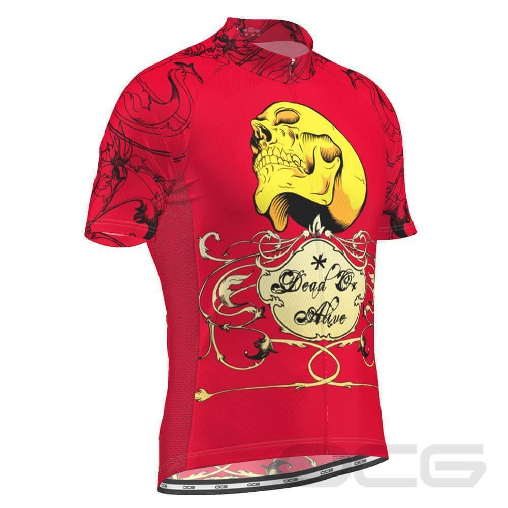 Dead or Alive Red Skull Cycling Jersey-OCG Originals-Online Cycling Gear Australia