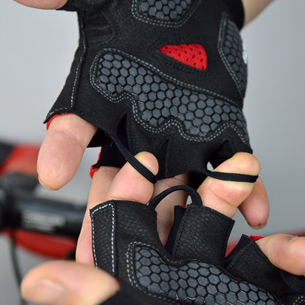 DV Half Tone Fingerless Gel Padded Cycling Gloves-DV Athletic-Online Cycling Gear Australia