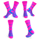 DV High Viz Pink Blue Stripe Pro Cycling Socks-DV Athletic-Online Cycling Gear Australia