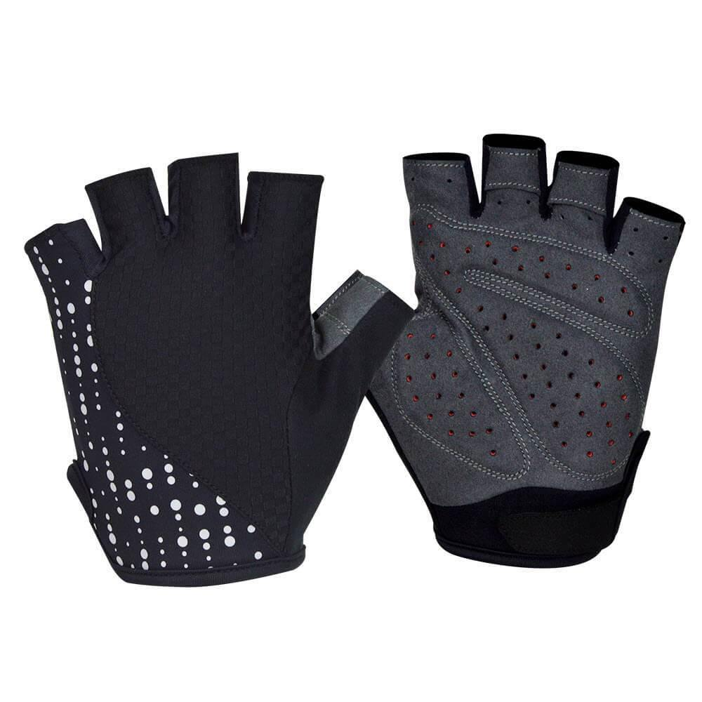 DV Reflective Gel Padded Half Finger Cycling Gloves-DV Athletic-Online Cycling Gear Australia