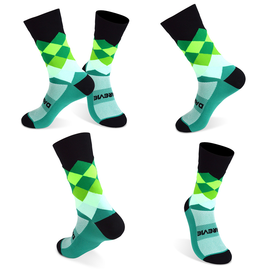 DV Unisex Diamonds Pro Cycling Socks-DV Athletic-Online Cycling Gear Australia