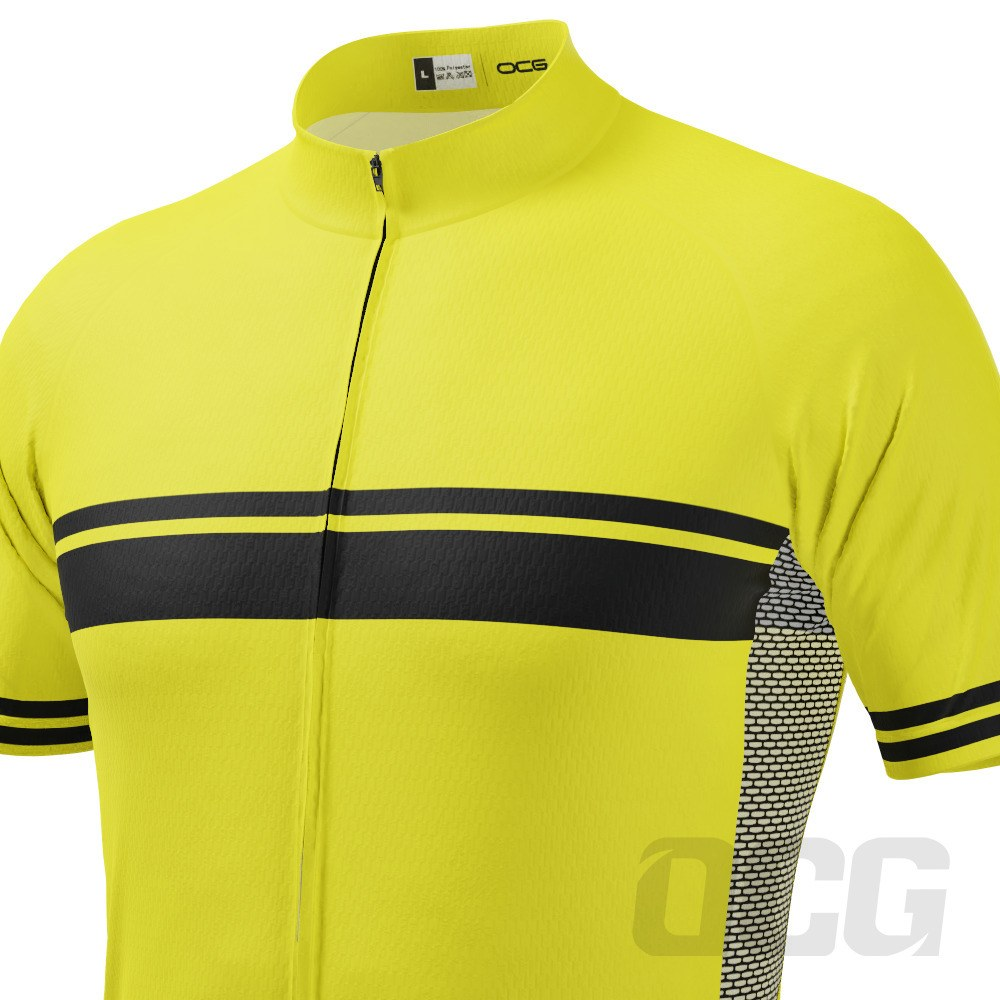 Men's High Viz Classic Stripe Short Sleeve Cycling Jersey