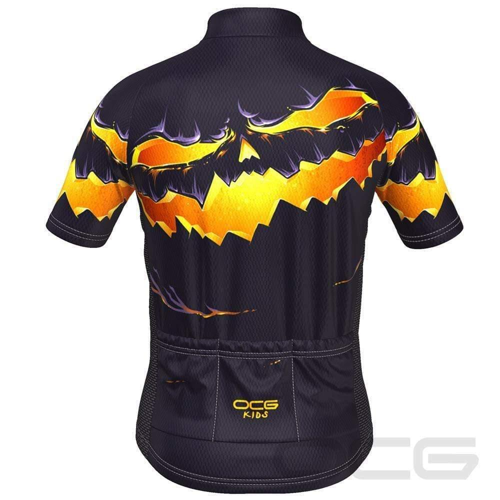 Kid's Purple Pumpkin Eater Short Sleeve Cycling Jersey-OCG Kids-Online Cycling Gear Australia