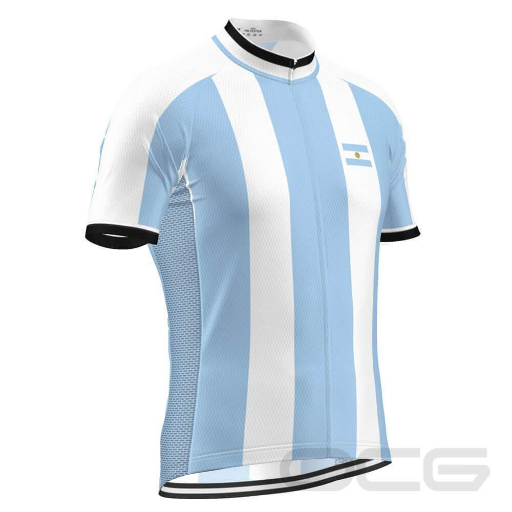 Men's Argentina Flag National Pro Cycling Jersey-OCG Originals-Online Cycling Gear Australia