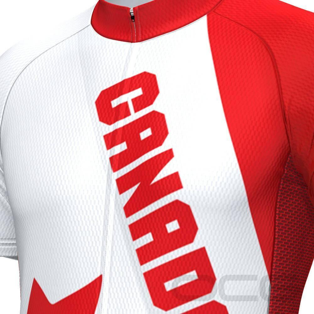 Men's Canada Bold Short Sleeve Cycling Jersey-OCG Originals-Online Cycling Gear Australia