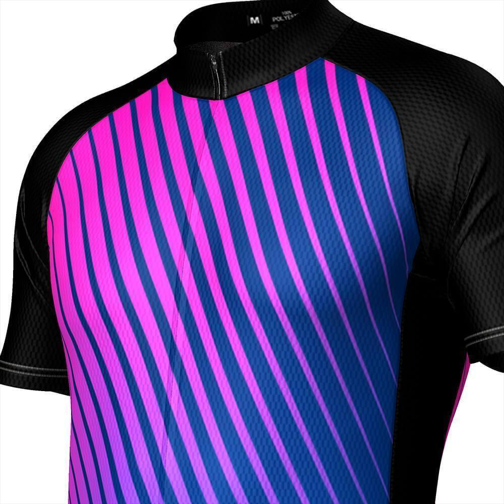 Men's Disco Stripe Black Short Sleeve Cycling Jersey-OCG Originals-Online Cycling Gear Australia