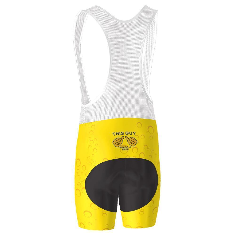 Men's Needs a Beer Pro-Band Cycling Bib-Online Cycling Gear Australia-Online Cycling Gear Australia