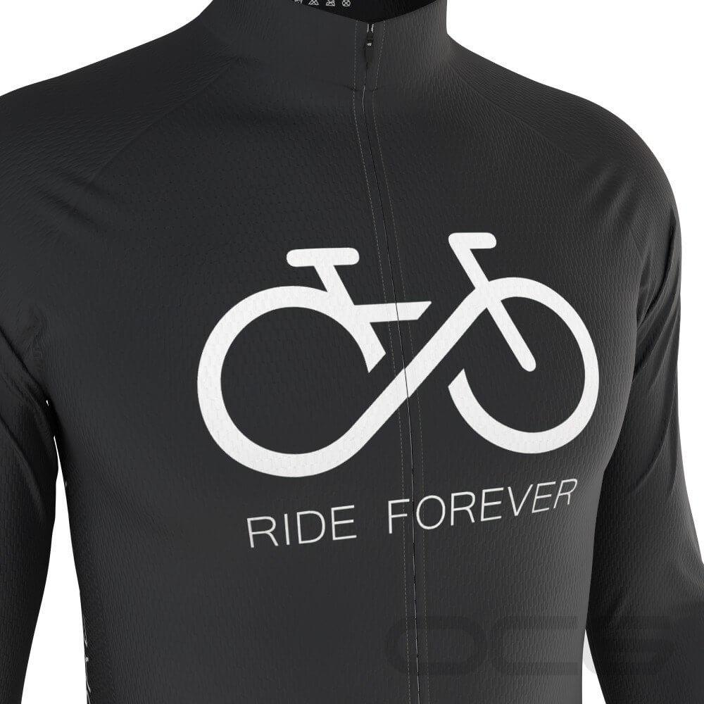 Men's Ride Forever Infinity Long Sleeve Cycling Jersey-OCG Originals-Online Cycling Gear Australia