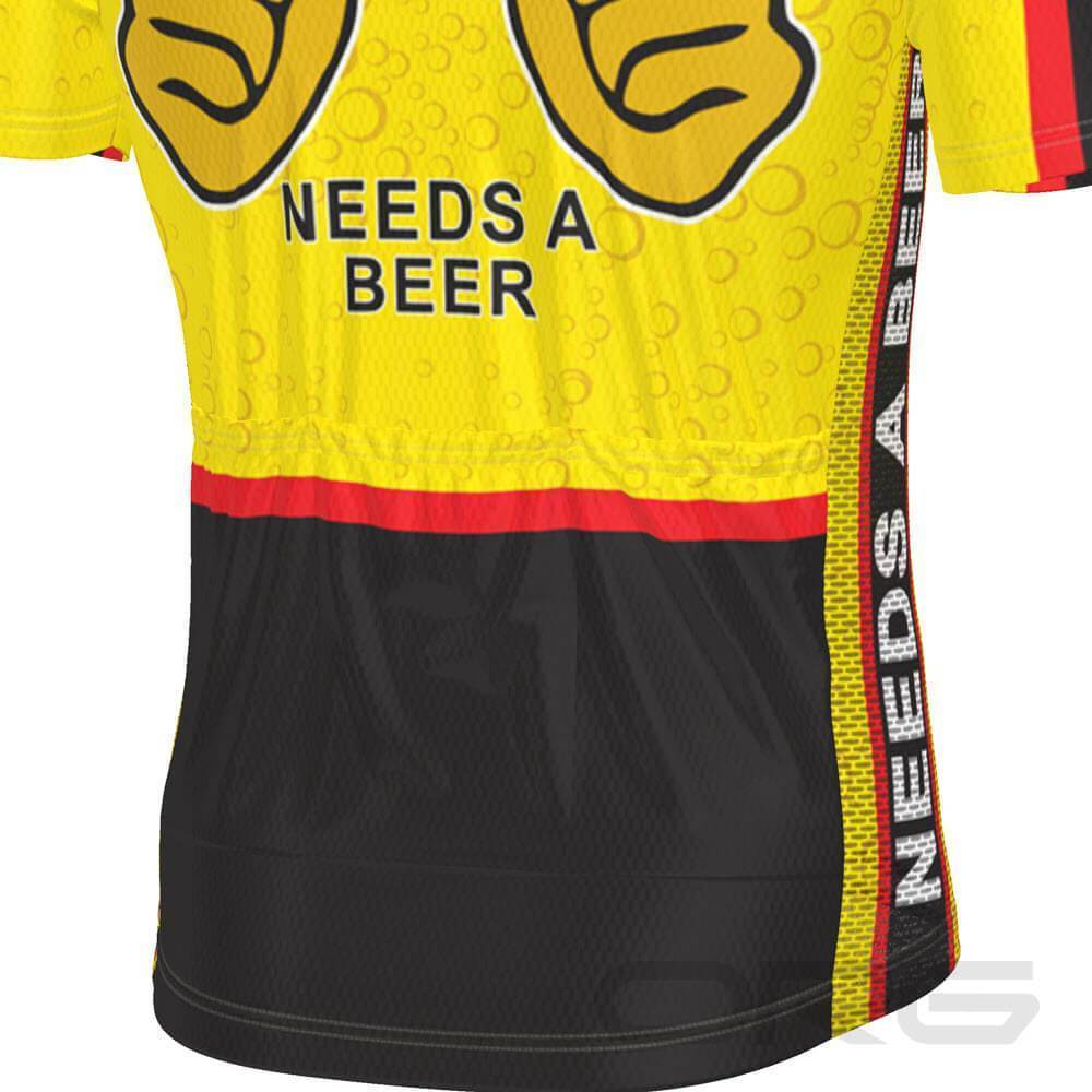 Men's This Guy Needs a Beer Short Sleeve Cycling Jersey-Online Cycling Gear Australia-Online Cycling Gear Australia