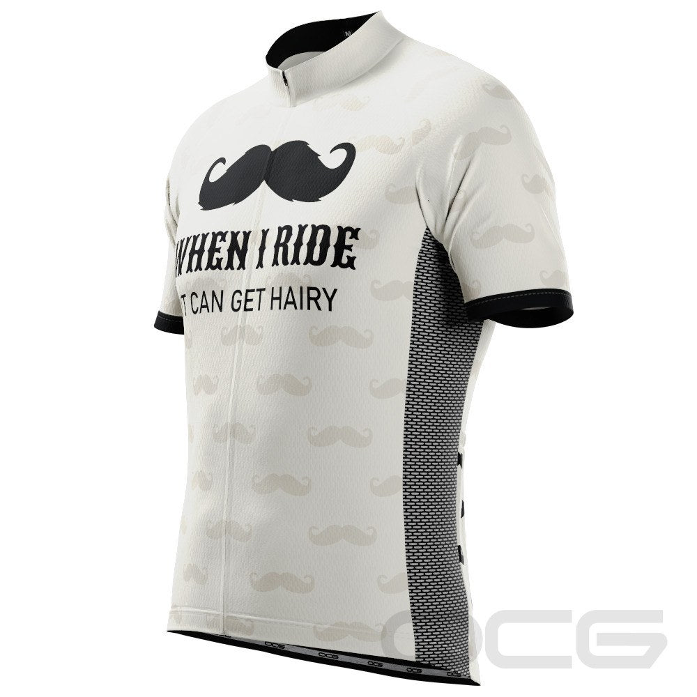 Men's Hairy Moustache Short Sleeve Cycling Jersey