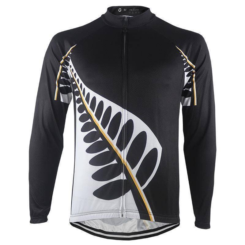 New Zealand Silver Fern Long Sleeve Cycling Jersey-Online Cycling Gear Australia-Online Cycling Gear Australia