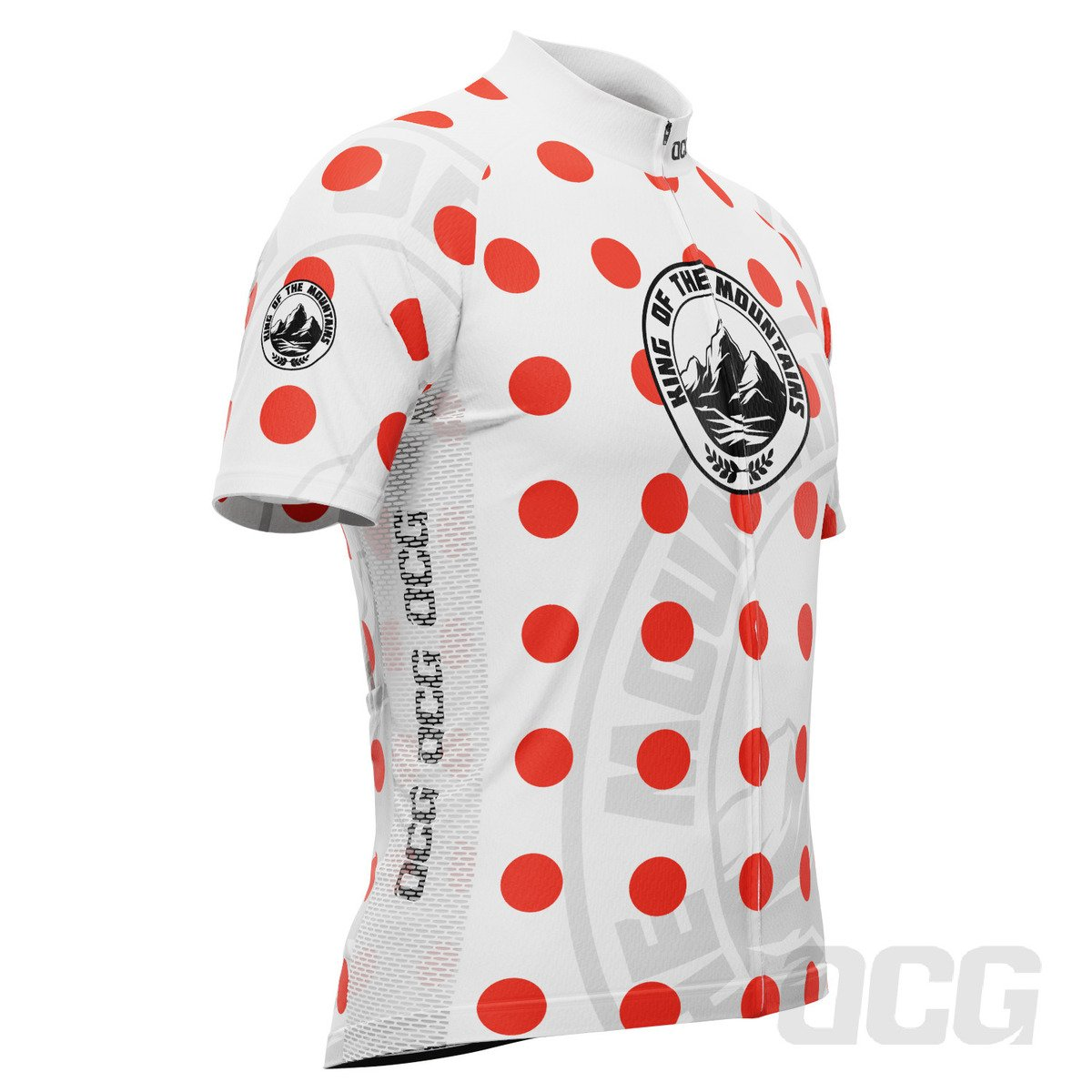 Men's King of the Mountains Polka Dot Short Sleeve Cycling Jersey