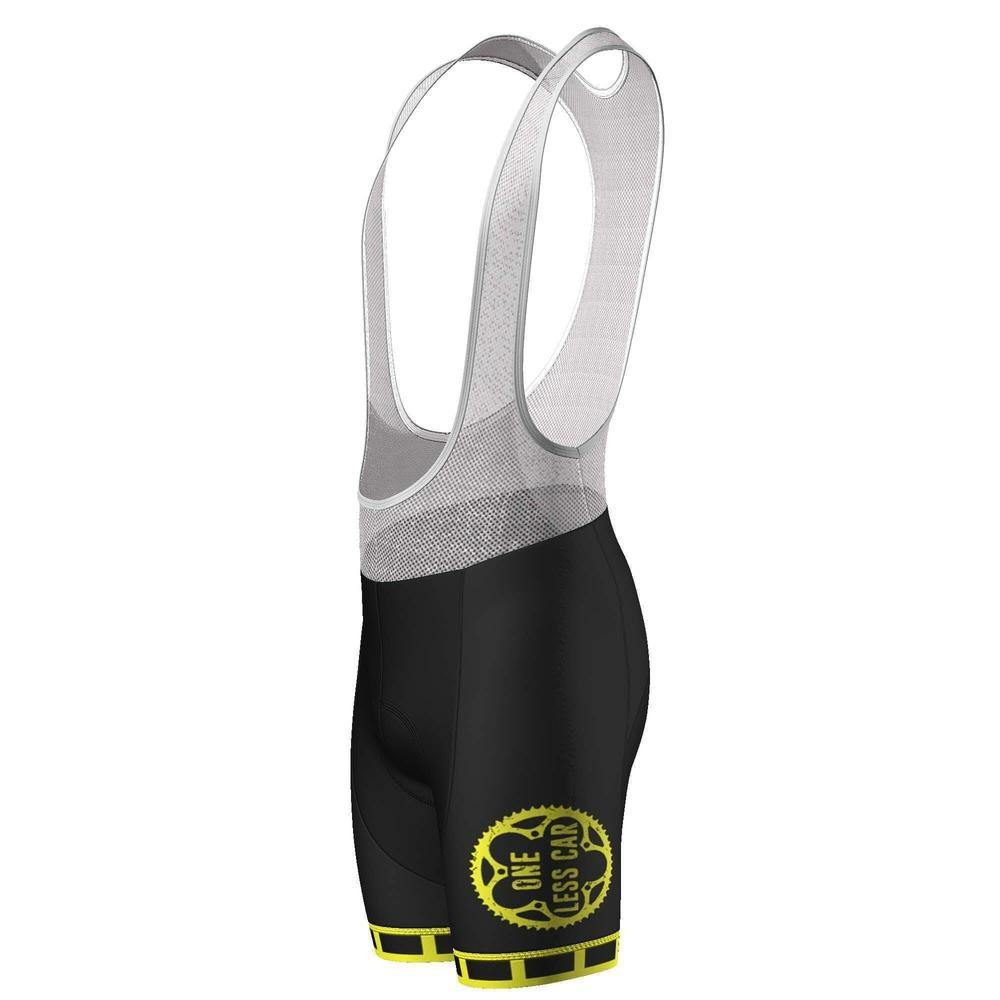 One Less Car High Viz Safety Pro-Band Cycling Bib Shorts-OCG Originals-Online Cycling Gear Australia