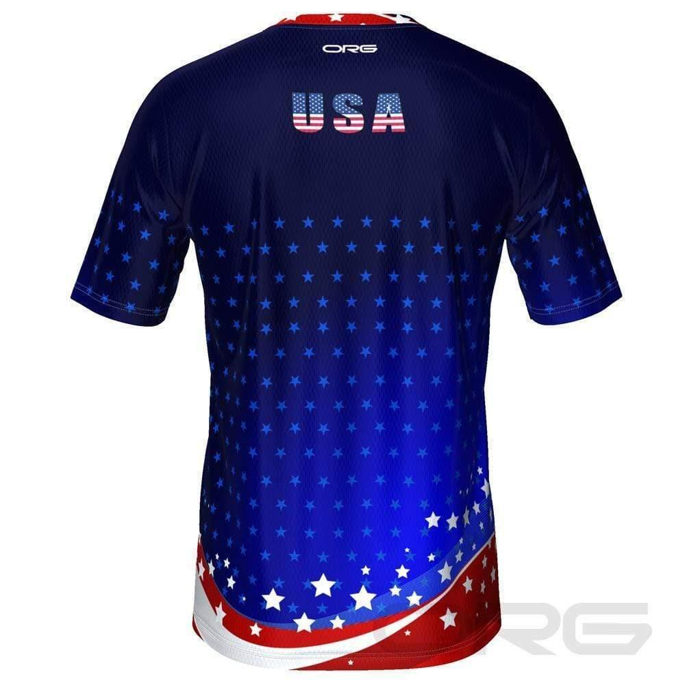 ORG Patriot USA Men's Technical Running Shirt-Online Running Gear-Online Cycling Gear Australia