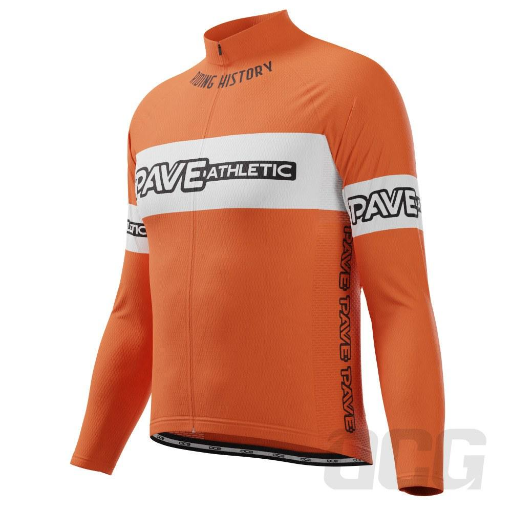 PAVE Athletic Retro Terme Long Sleeve Cycling Jersey