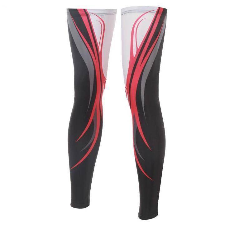 Red Swirl Cycling Leg Warmers-Online Cycling Gear Australia-Online Cycling Gear Australia