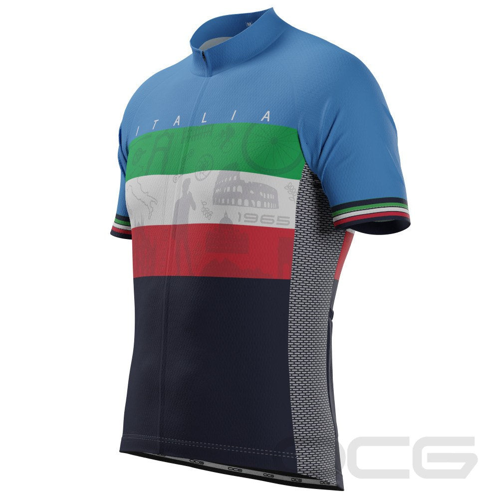 Men's Sites of Italy Italian Flag Cycling Jersey