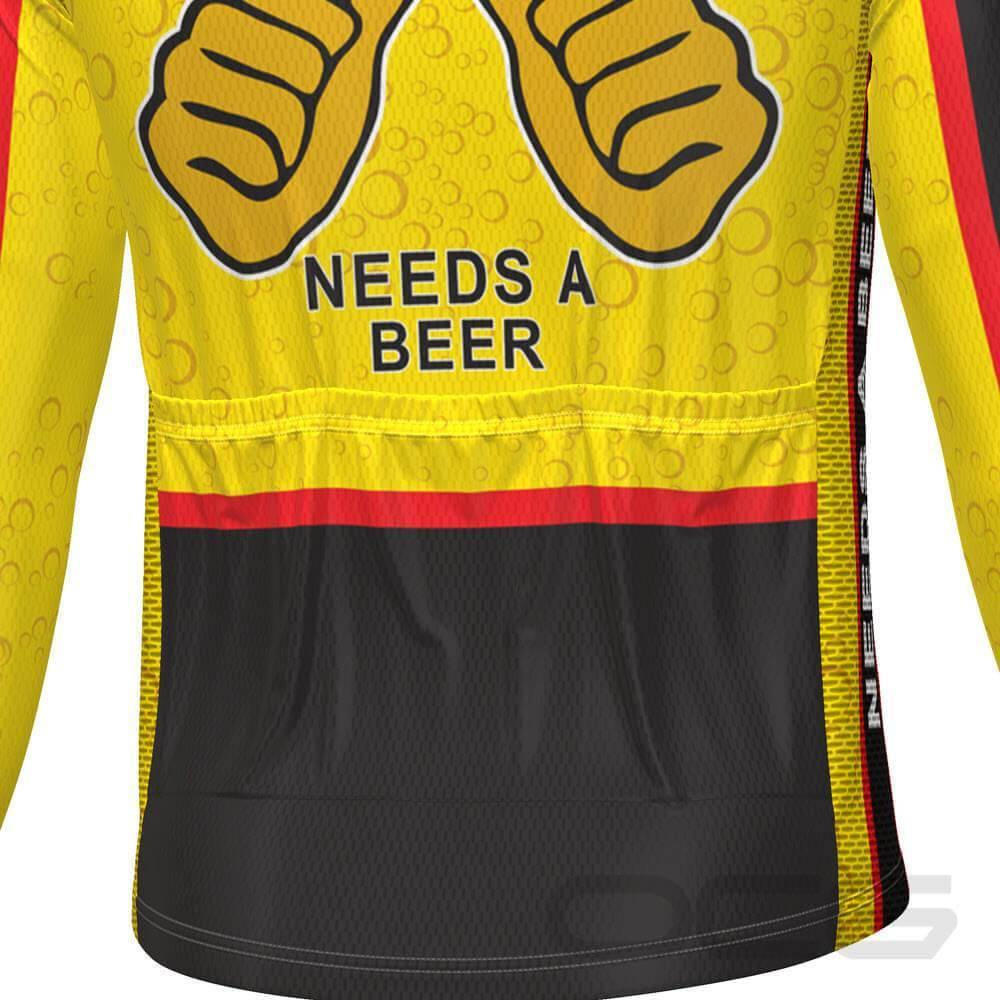 This Guy Needs a Beer Long Sleeve Cycling Jersey-Online Cycling Gear Australia-Online Cycling Gear Australia