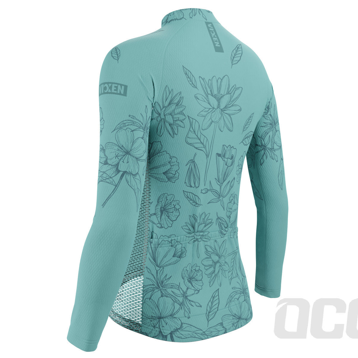 Women's Flower Power Long Sleeve Cycling Jersey