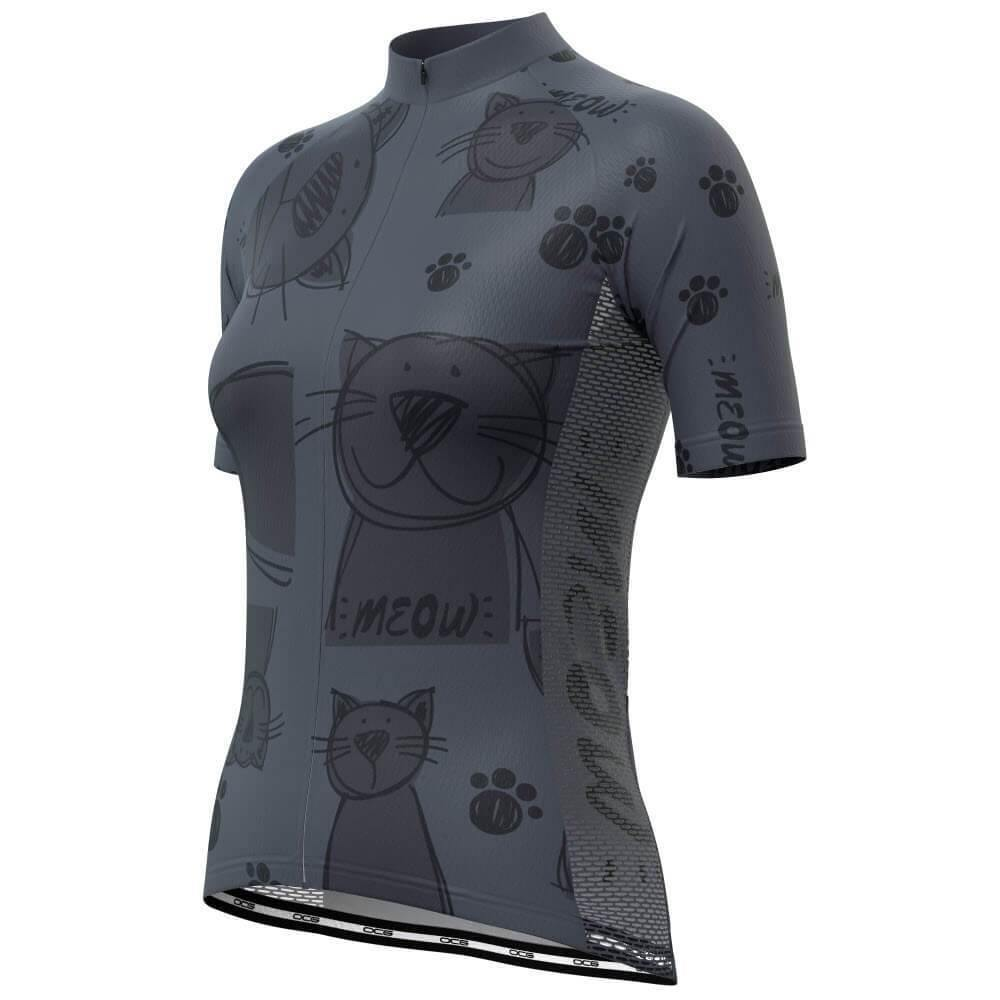 Women's Cat Meow Short Sleeve Cycling Jersey-OCG Originals-Online Cycling Gear Australia
