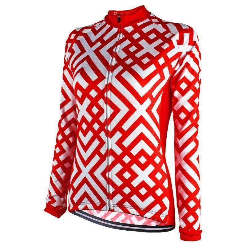 Women's Cross Hatch Long Sleeve Cycling Jersey-Online Cycling Gear Australia-Online Cycling Gear Australia