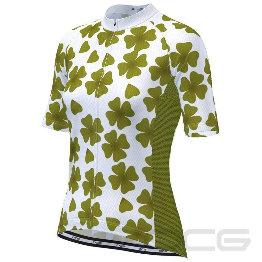 Women's Four Leaf Clover Ireland Cycling Jersey-Online Cycling Gear Australia-Online Cycling Gear Australia