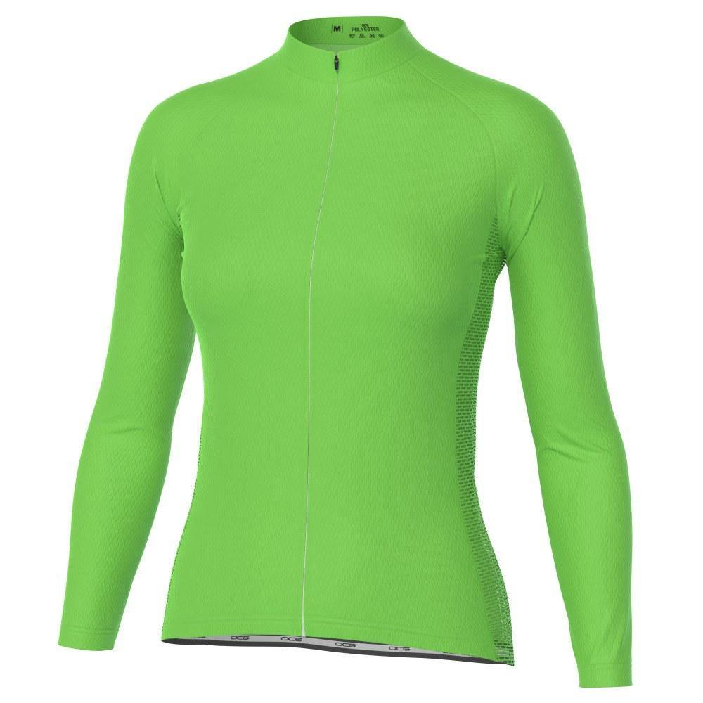 Women's High Viz Plain Colour Long Sleeve Cycling Jersey-OCG Originals-Online Cycling Gear Australia