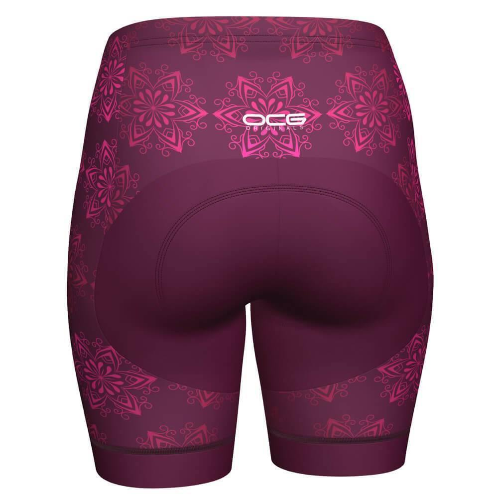 Women's Mandala Pro-Band Cycling Shorts-OCG Originals-Online Cycling Gear Australia