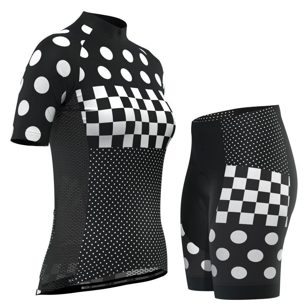 "Women's ""Nina"" Polka Dot Pro-Band Short Sleeve Cycling Kit-OCG Originals-Online Cycling Gear Australia"