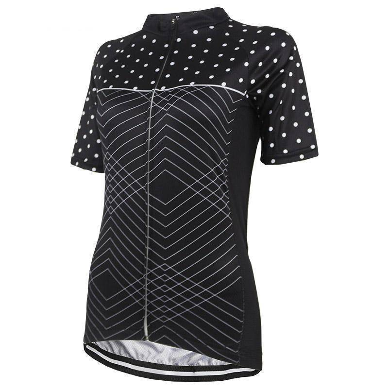 Women's Polka Dot Zigzag Cycling Jersey-Online Cycling Gear Australia-Online Cycling Gear Australia
