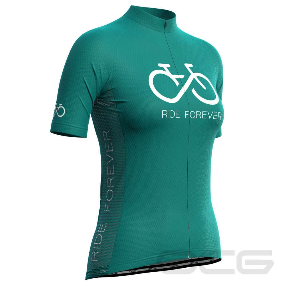 Women's Ride Forever Infinity Short Sleeve Cycling Jersey-OCG Originals-Online Cycling Gear Australia