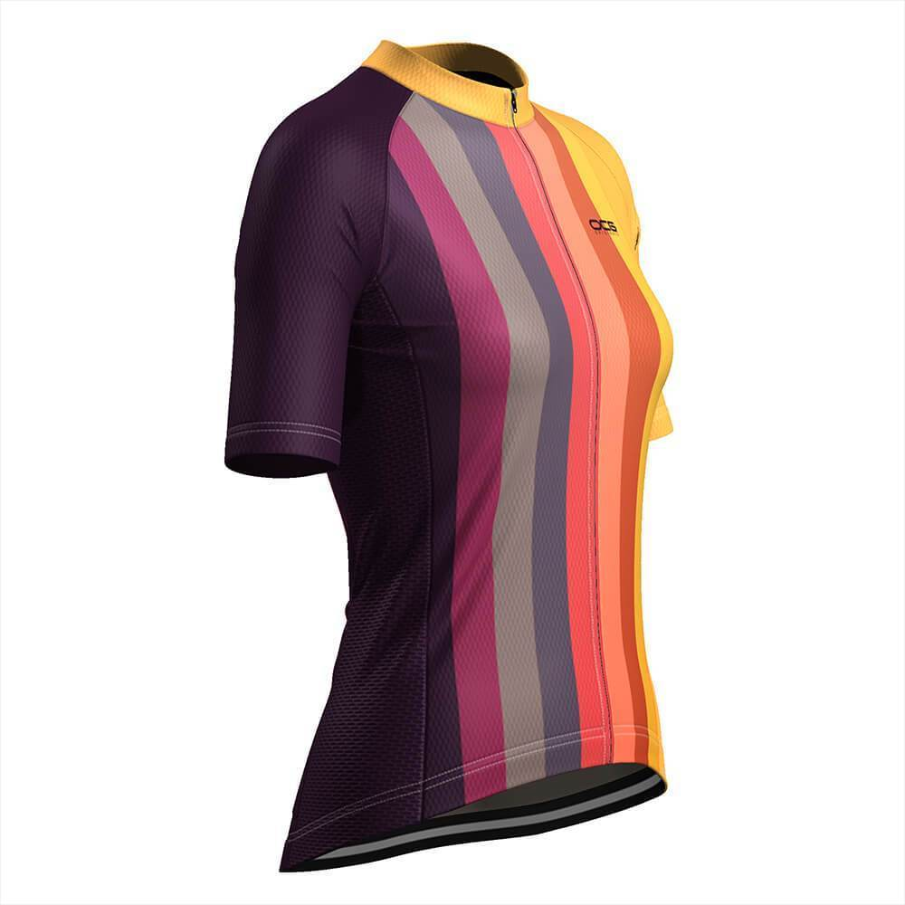 Women's Sunburnt Rainbow Cycling Jersey-OCG Originals-Online Cycling Gear Australia