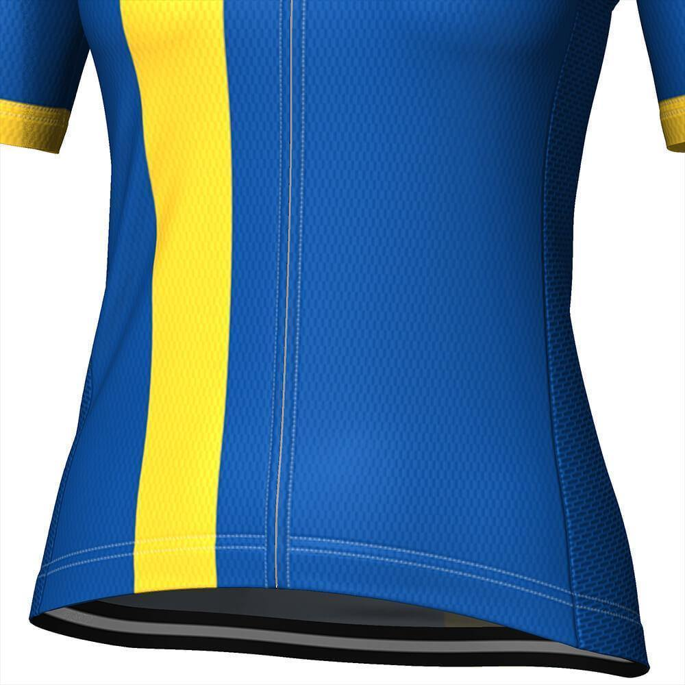 Women's Sweden Swedish Flag Cycling Jersey-OCG Originals-Online Cycling Gear Australia
