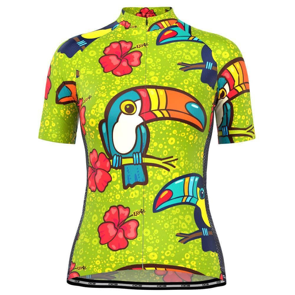 Women's Tucan Hibiscus Cycling Jersey-OCG Originals-Online Cycling Gear Australia