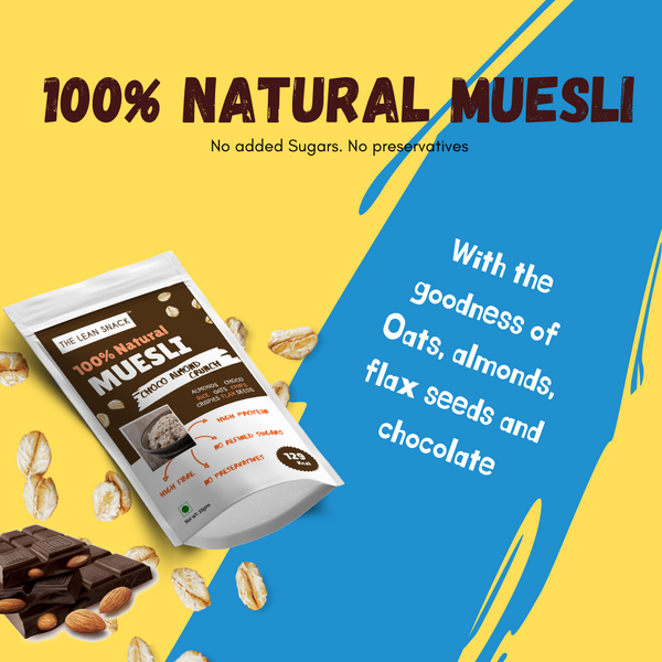 100% natural Muesli - Choco Almond Crunch - Rs 30/piece