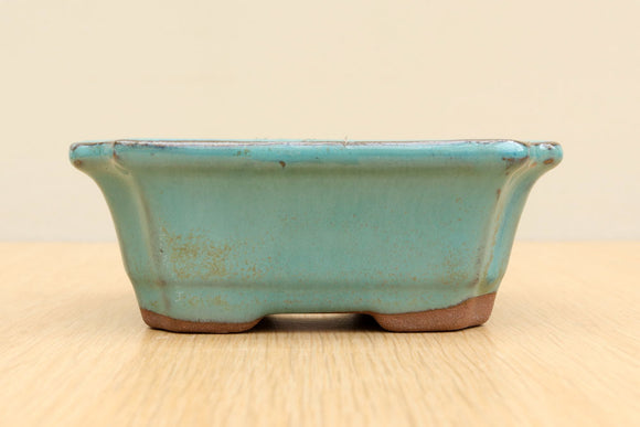 (A) Glazed Rectangular Bonsai Pot - 5