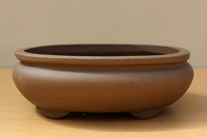 (A) Unglazed Oval Bonsai Pot 1 - 8""