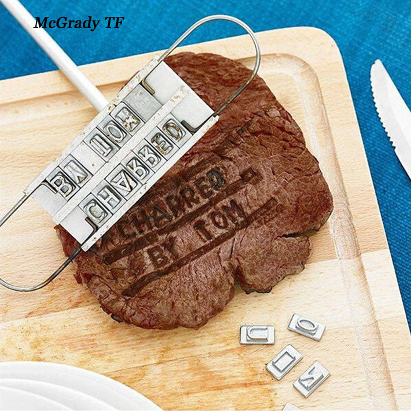 Social Hotcakes - Steak Branding Iron With Changeable Letters -